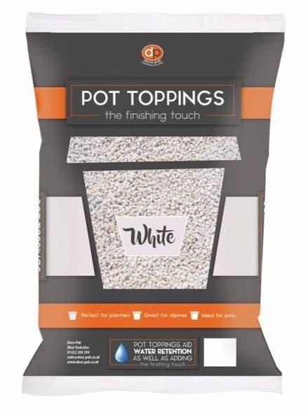 Deco-Pak Pot Toppings - 20mm White